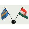 Nemzeti címeres és Székely zászlók asztali tartóval
