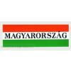 Nemzeti színű Magyarország felírattal matrica 20X7 cm