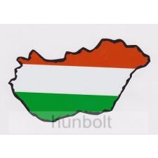 Nemzeti színű Magyarország külső matrica (14X8 cm) matrica