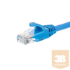 Netrack patch cable RJ45; snagless boot; Cat 6 UTP; 0.25m blue