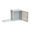 Netrack wall/hanging cabinet 19'';12U/450 mm;glass door;grey;remov. side pan.