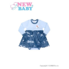 NEW BABY Baba body szoknyával New Baby Light Jeansbaby kék | Kék | 68 (4-6 h)