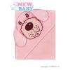 NEW BABY Baba frottír törölköző 80x80 kutya rózsaszín   Rózsaszín  