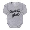 NEW BABY Baba hosszú ujjú body New Baby Sweet girl szürke | Szürke | 50