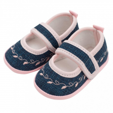 NEW BABY Baba kislányos cipő New Baby Jeans rózsaszín 3-6 h gyerek cipő