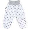 NEW BABY Baba lábfejes nadrág New Baby Classic II szürke csillagokkal