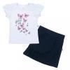 NEW BABY Baba póló szoknyával New Baby Butterflies kék