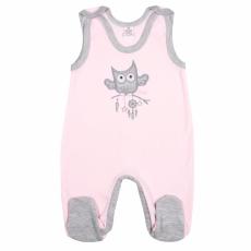 NEW BABY Baba rugdalózó New Baby Owl rózsaszín