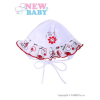 NEW BABY Baba sapka New Baby Katica | Fehér | 68 (4-6 h)
