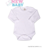 NEW BABY Body hosszú ujjú New Baby - fehér   Fehér   86 (12-18 h)