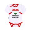 NEW BABY Body nyomtatott mintával New Baby Drukkolok az apuval | Piros | 74 (6-9 h)