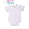 NEW BABY Body rövid ujj New Baby Classic | Fehér | 56 (0-3 h)