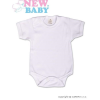 NEW BABY Body rövid ujj New Baby Classic | Fehér | 80 (9-12 h)