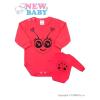 NEW BABY Csecsemő body hossú ujj New Baby Állat katicabogár rózsaszín | Sötét rózsaszín | 62 (3-6 h)