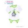 NEW BABY Csecsemő hosszú ujjú body New Baby Towns zöld | Zöld | 68 (4-6 h)
