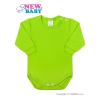 NEW BABY Csecsemő hosszú ujjú body New Baby világos zöld | Világos zöld | 62 (3-6 h)