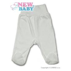 NEW BABY csecsemő lábfejes nadrág fehér | Fehér | 56 (0-3 h)