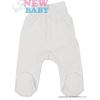 NEW BABY Csecsemő lábfejes nadrág New Baby Classic | Fehér | 56 (0-3 h)