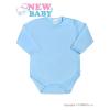 NEW BABY Csecsemő teljes hosszba patentos body New Baby Classic kék | Kék | 50