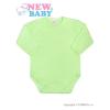 NEW BABY Csecsemő teljes hosszba patentos body New Baby Classic zöld | Zöld | 50