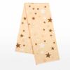 NEW BABY Flanel pelenka nyomtatott mintával New Baby narancssárga csillagok