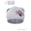 NEW BABY Gyerek őszi sapka New Baby In-line szürke | Szürke | 110 (4-5 éves)