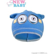 NEW BABY Gyerek őszi sapka New Baby mimon világos kék