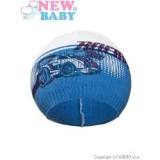 NEW BABY Gyerek őszi sapka New Baby Racing sötét kék