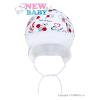NEW BABY Gyerek pamut sapka New Baby Katica | Fehér | 74 (6-9 h)