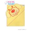 NEW BABY Gyerek törölköző (kifogó) kutyus 100x100 sárga | Sárga |