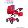 NEW BABY Gyermek babakocsi babáknak 2az1-ben New Baby Mónika piros