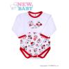 NEW BABY Hosszú ujjú baba body New Baby Katica | Fehér | 80 (9-12 h)