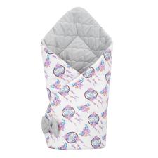 NEW BABY Kétoldalas pólya Velvet New Baby 75x75 cm álom elkapó szürke pólya