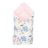 NEW BABY Kétoldalas pólya Velvet New Baby 75x75 cm páva rózsaszín