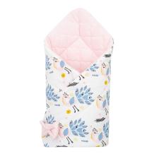 NEW BABY Kétoldalas pólya Velvet New Baby 75x75 cm páva rózsaszín pólya