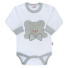 NEW BABY Luxus baba hosszú ujjú body New Baby Honey Bear 3D | Fehér | 74 (6-9 h)