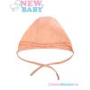 NEW BABY Megkötős baba sapka - New Baby narancssága