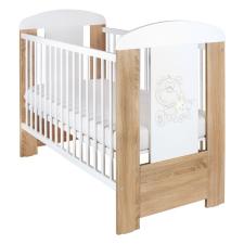 NEW BABY   New Baby Maci csillaggal   Gyerek kiságy New Baby Maci csillaggal standard tölgy   Tölgy Riviera   ágy és ágykellék