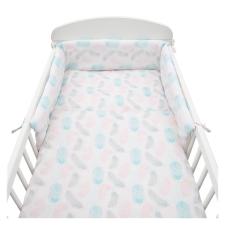 NEW BABY | New Baby Tollak | 3-részes ágyneműhuzat New Baby 90/120 cm Tollak rózsaszín | Rózsaszín | lakástextília