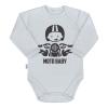 NEW BABY | Nyomtatott mintával | Body nyomtatott mintával New Baby Moto baby szürke | Szürke | 74 (6-9 h)