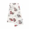 NEW BABY Pamut pelenka nyomtatott mintával New Baby fehér piros artókkal