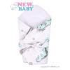NEW BABY Pólya kókusz betéttel és masnival New Baby szürke macival | Szürke |