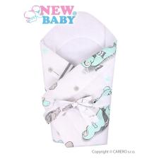 NEW BABY Pólya kókusz betéttel és masnival New Baby szürke macival | Szürke | pólya