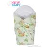 NEW BABY Pólya kókusz merevítéssel és masnival New Baby zöld maci | Zöld |