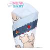 NEW BABY Pólyakendő New Baby kék dínós | Szürke |