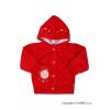 NEW BABY Szemis pulóver kapucnival | Piros | 86 (12-18 h)