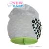 NEW BABY Tavaszi sapka New Baby Szívecske szürke - zöld | Szürke | 110 (4-5 éves)