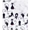 NEW BABY Vízálló flanel alátét New Baby fehér fekete cicával