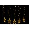 Nexos Karácsonyi dísz - Világító csillagok - készlet, 100 LED dióda