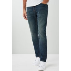 Next , Slim fit farmernadrág, Mosott kék, 34XL (512979-BLUE-34XL)